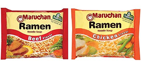 Maruchan Ramen Noodle Soup Variety Pack,12 Beef 3-ounce Packages & 12 Chicken 3-ounce Packages , Total of 24 Packages