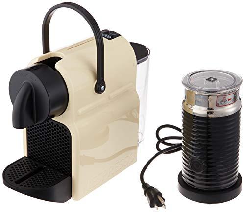 Nespresso Inissia Original Espresso Machine Bundle with Aeroccino Milk Frother by De