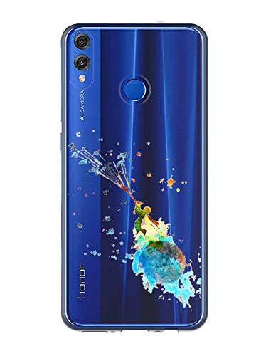 Oihxse Compatible pour Coque Samsung Galaxy M30s Étui Liquid Crystal Ultra Mince Transparent TPU Silicone Housse Protection Bumper Souple Mignon Modèle Anti-Rayures Case(Petit Prince 1)