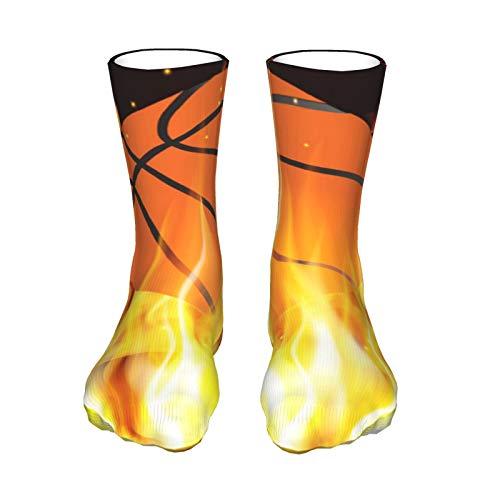 Llamas Y Baloncesto Unisex Transpirable Suave Quarter Calcetines de Fuerza Rendimiento de Trabajo Corto de Bota de la Tripulación Calcetines de las Mujeres Calcetines Atléticos