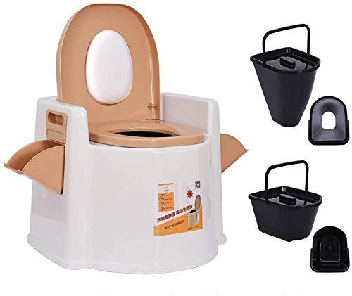 LLKK Nachttisch-Toilettenstuhl, tragbare Toilette, Schwangere Frauen, Senioren-Toilette, Camping-Toiletten, tragbar/Hockern, für ältere Menschen mit Behinderung und Schwangere