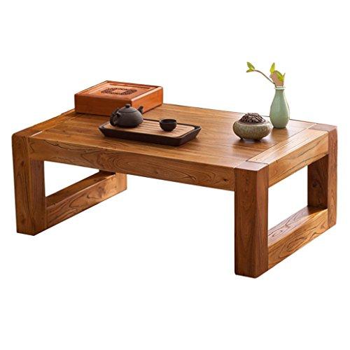 Tavolino in Legno massello Tavolo in Stile Giapponese tavolino in Tatami Tavolo in Stile Cinese Antico Olmo tavolino Semplice Balcone tavolino Tavoli e tavolini (Color : Beige, Size : 70 * 45 * 30CM)