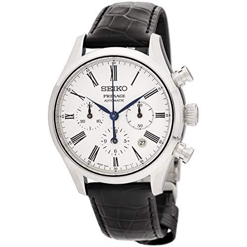Reloj Seiko Presage automático movimiento blanco esfera reloj SRQ023J1