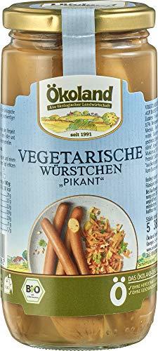 ÖKOLAND Bio Vegetarische Würstchen PIKANT (1 x 380 gr)