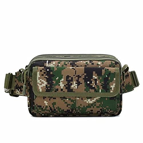 DSUEAXY Bolso de cintura para hombre bolso de pecho funcional bolso de hombro de moda simple bolso de mensajero al aire libre de ocio multifuncional deportivo