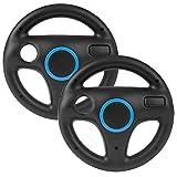 2 unidades de volante compatible con Mario Kart Wii, Beinhome Racing Wheel volante para juegos Nintendo Wii y Wii U Racing Games (negro)