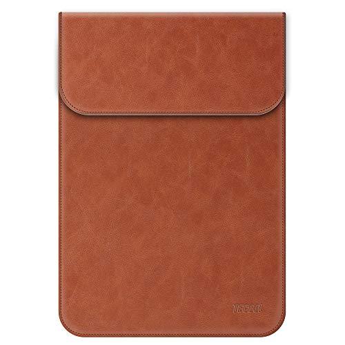 TECOOL 13-13.3 Zoll Laptop Hülle Kunstleder, Laptop Schutzhülle Case Tasche Sleeve für MacBook Air 13 (A1466/ A1369) 2010-2017/2013-2015 MacBook Pro 13 Retina (A1502/ A1425) - Braun