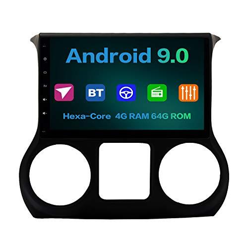 For Sale! Dasaita 10.2 Android 9.0 Car Radio for Jeep Wrangler 2011-2018 Bluetooth Car Audio Stereo...