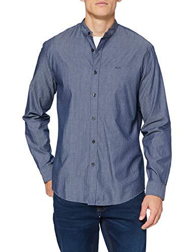 ARMANI EXCHANGE Shirt Camicia, Blue Chambray, XS Uomo