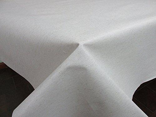 Confección Saymi Mantel Antimanchas loneta Lisa resinada Color Lino, Medida 138x200