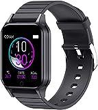 AVEDISTABTE Reloj Inteligente para Hombre Mujer,Smartwatch Impermeable IP67 Pulsera Actividad Deportivo con Monitor de Temperatura Corporal,Sueño,Pulsómetro,presión arterial Reloj Fitness para Android y iOS (Negro)