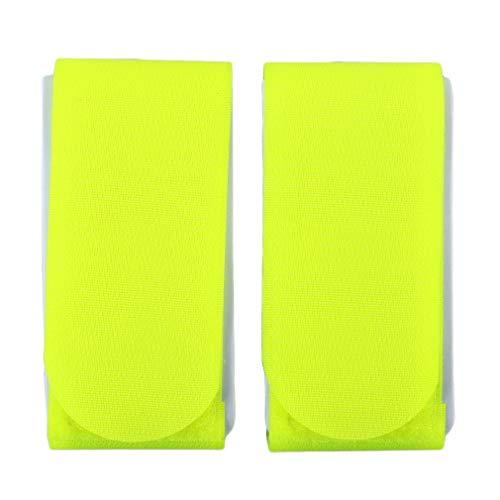 LnLyin 2 Pieces Ski-Riemen Snowboard-Strap-Bindungen Griff Bindegurt Pole-Träger Reisen Camping Skifahren Snowboard-Zubehör, fluoreszierend gelb