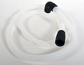 Whirlpool W10358302 Dishwasher Drain Hose and Check Valve Original Equipment  OEM  Part White