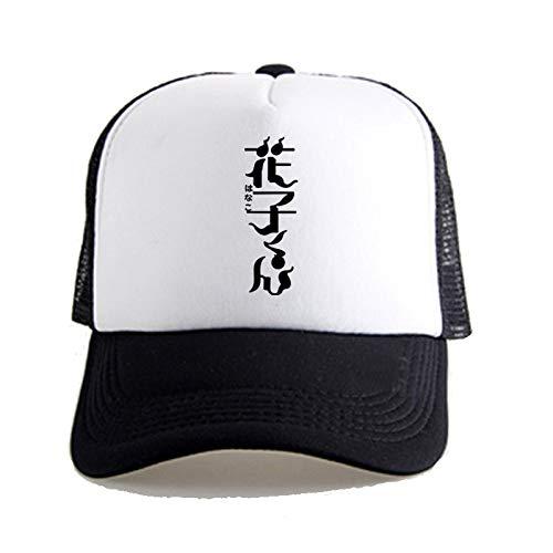 XUEYAN WC-Bound Hanako-kun: Patrón Nombre animado gorra de béisbol unisex, con estilo ocasionales respirables Sunhat, Pesca Cap Net sombrero a caballo Senderismo Sombrero, Hip Hop Visera Montañismo Ca