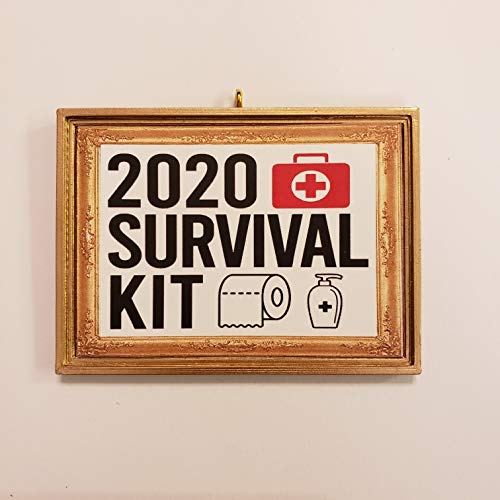 2020 Survival Kit Toilet Paper Pump Bottle Christmas Tree Ornament Covid-19 Coronavirus Corona Virus