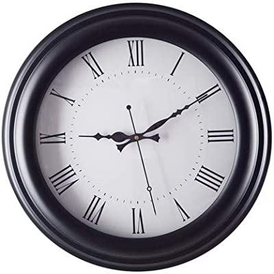 Chronikle Beautiful White Dial Black Round Wooden World Wall Clock for Home Office Décor 16 * 16 in