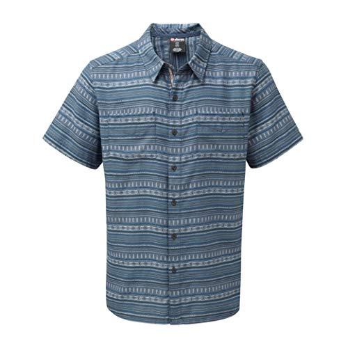 Sherpa Bhaku Shirt Men, neelo Blue Modèle S 2020 T-Shirt Manches Courtes