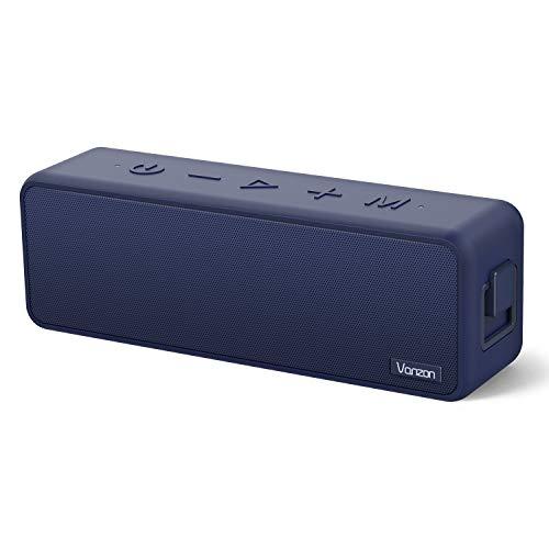 Bluetooth スピーカー Vanzon 20W ワイヤレススピーカー Bluetooth5.0 24時間連続再生 完全ワイヤレスステレオ対応 IPX7防塵防水規格 TWS機能 マイク内蔵 【3時間急速充電 Type-c対応、ワイヤレス、低音強化、マイク搭載、TFカード/AUX線】ネービー