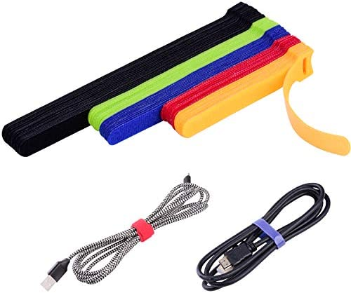 OneLeaf 60 Pcs Reusable Fastening Cable Ties with Hook and Loop Multi Purpose Cable Straps Wire product image