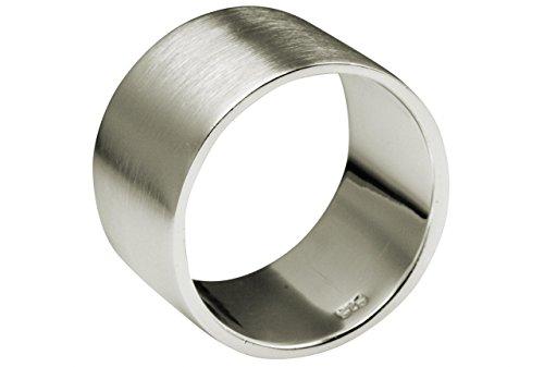 SILBERMOOS Anillo XL en grandes tamaños para hombres y mujeres pareja clásico Plata esterlina 925 Tamaño 64, 66, 68, 70, 72, 74, Tamaño del anillo:34