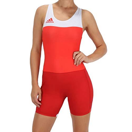 Adidas Performance Womens T Fall Wrestling Canottiera -Rosso-M