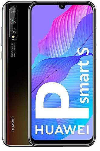 HUAWEI P Smart S - Smartphone con Pantalla OLED de 6.3  (4GB DE RAM + 128GB de ROM, Cámara triple AI de 48MP, Color Negro (No contiene los servicios de Google (GMS) preinstalados)