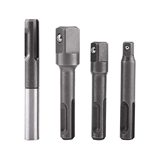 4 Stks SDS Plus Set Boor Verlengstuk Connector, Schacht naar 1/4