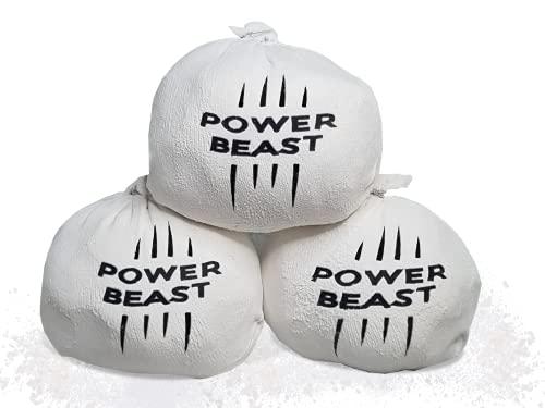 Power Beast 3X Bolas Tiza de Magnesio  Chalk  Chalk Ball  Magnesio para Crossfit 60 Gr  Escalada  Levantamiento de Pesas  Halterofilia  Poledance  Baile en Barra  Padel  Tenis  Calistenia.