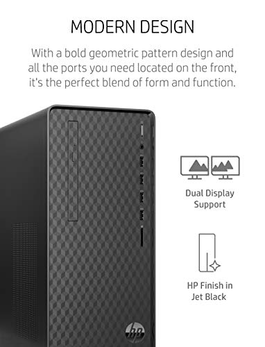 HP Desktop PC, AMD Ryzen 3 4300G Processor, 8 GB of RAM, 512 GB SSD Storage, Windows 10 Home, High Speed Performance, Computer, 8 USB Ports, for Business, Study, Videos, and Gaming (M01-F1120, 2021)