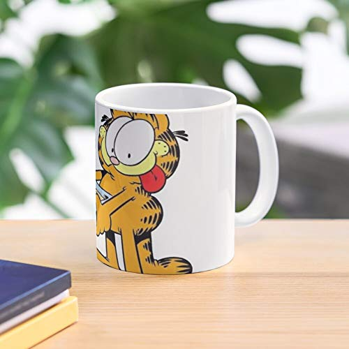 5TheWay His and Lasagna Garfield Mug Best 11 oz Kaffeebecher - Nespresso Tassen Kaffee Motive