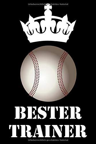 Bester Trainer: Baseball Notizbuch | Für Taktik, Strategie & Training | 105 punktierte Seiten | Format ca. A5 |