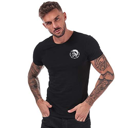 Diesel Herren 00CG240TANL T-Shirt, Schwarz (Black 900), L