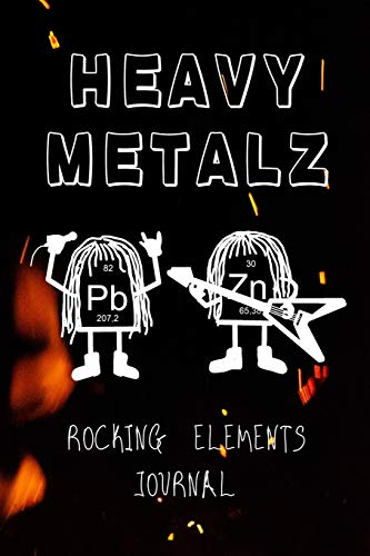 Heavy Metalz: rocking elements journal: Dot Grid Diary / Notebook - 6x9 inches (~DIN 5), 100 Pages