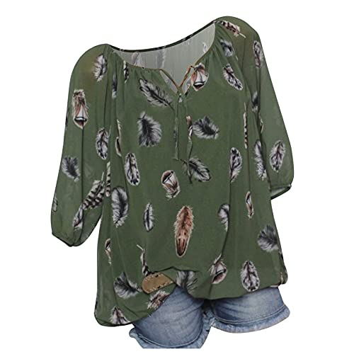 Chemisier Femme Manches Longues T Shirt Rayures Verticales Chemise Femmes Chic Col en V Blouse Tunique Multicolore S-XXL