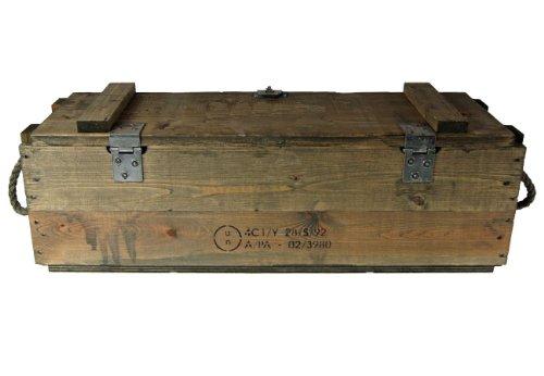 Bundeswehr Munitionkiste Holzkiste neuwertig, oliv, 76×23,5x26cm - 2