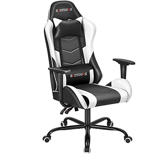 ECOTOUGE PC Gaming Chair Massage Ergonomic Office Desk Chair...