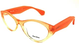 MU02MV Eyeglasses-QFI/1O1 Orange Gradient Glitter-54mm