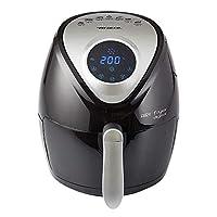 ariete 4616 airy fryer digital friggitrice ad aria calda senza olio, 1300 w, capacità 2,6l, lcd digitale touch, timer, 7 programmi preimpostati, nero