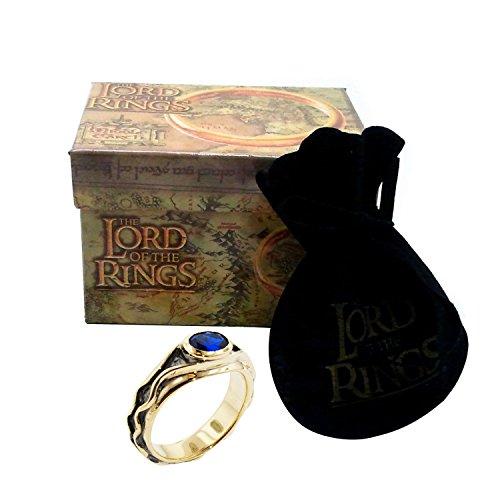 Medioevo Replica Ufficiale Anello di Elrond Vilya da Il Signore degli Anelli 17mm