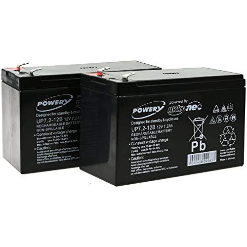 Powery Batería de GEL para SAI APC Back-UPS RS 1500