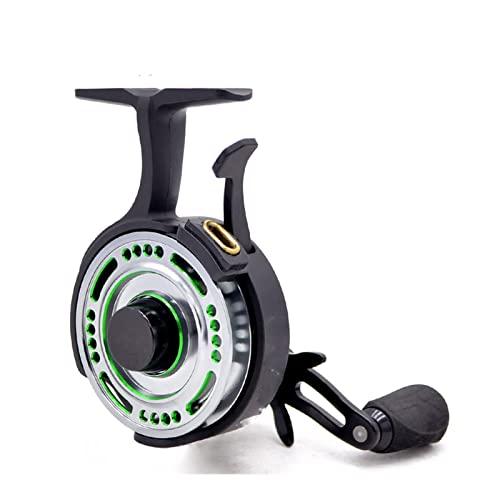 Carrete giratorio de pesca Carrete de pesca en hielo en línea Relación de transmisión de 2,5: 1 4 rodamientos de bolas Caída libre Zurdos Recuperar bobina de pesca Carretes de pesca para cebos(Siz