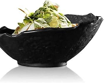 Bowl /& Server Nero Irregolare Giapponese Ciotola Di Ceramica Inclinato Immediata Bowl Articoli for La Tavola Delle Famiglie Noodle Bowl Piatto Di Riso Ciotola Regali Ciotola Noodle Per la cucina famil