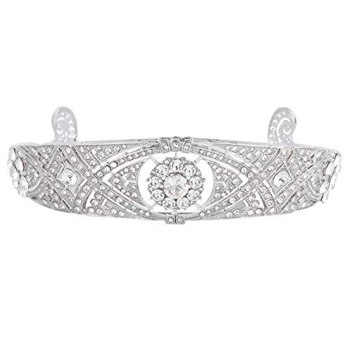 Lurrose Corona de Novia de Cristal Barroco Vintage Diadema de Diamantes de...