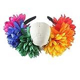 YAZILIND Daisy Flor Accesorios De pelo cráneo tocado de mujeres Halloween fiesta Cosplay trajes Headwear