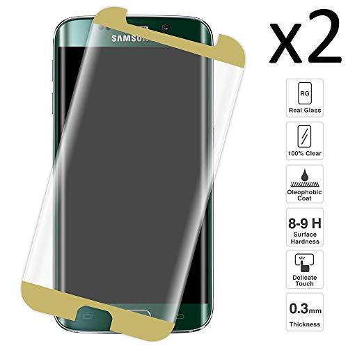 iGlobalmarket - Pellicola Proteggi Schermo 3D per Samsung Galaxy S6 Edge, in Vetro temperato, Senza Bolle, Schermo Completo, durezza 9H, Resistente ai Graffi