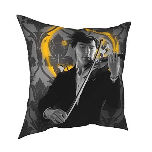 Hearble Stephen Friggere Violino Anthony Horowitz Valley of Fear Sherl-ock Holm-es ragionamento lovegrove Copriletto art con divano impermeabile camera da letto regalo mamma giorno 30,5 x 30,5 cm