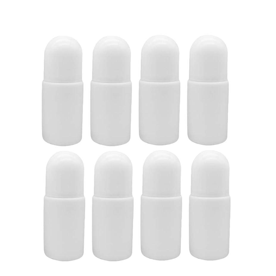 シャーじゃがいも谷SUPVOX 10個プラスチック ローラーボトル空の詰め替え可能なロールでエッセンシャルオイル香水 化粧品ローション付き プラスチックローラーボール50ミリリットル(ホワイト)