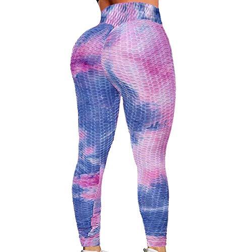 MISS MOLY Women High Waist Yoga Pants Scrunched Booty Leggings Workout Running Butt Enhance Textured Tights