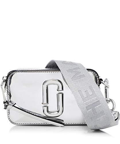 Marc Jacobs Da Donna piccolo sacchetto fotocamera specchiata istantanea Argento Unica Taglia