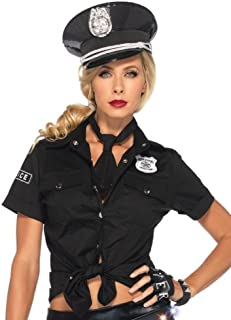 Women's 2 Piece Police Shirt and Tie Costume